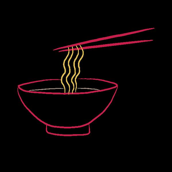 About sun noodle servings. Noodles clipart noddles