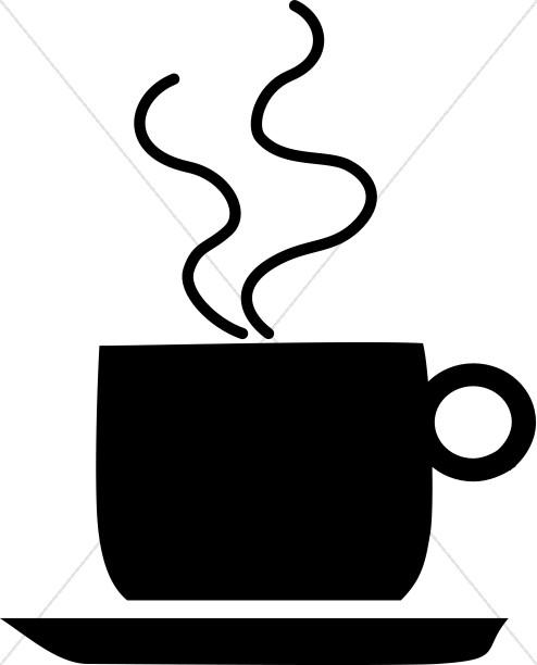 Coffee mug hour . Clipart cup silhouette