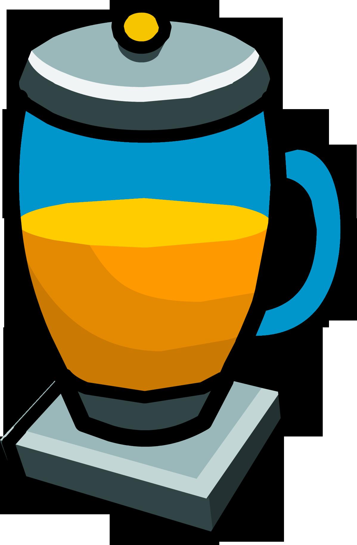 Fruit juice club penguin. Clipart cup slushie