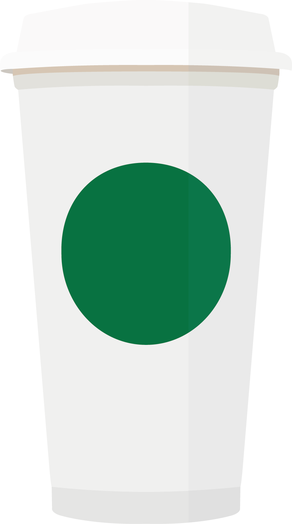 Cups vector graphic flat. Cup clipart takeaway coffee