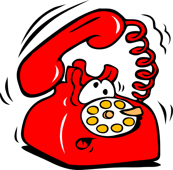 Ringing learning to communicate. Telephone clipart animation