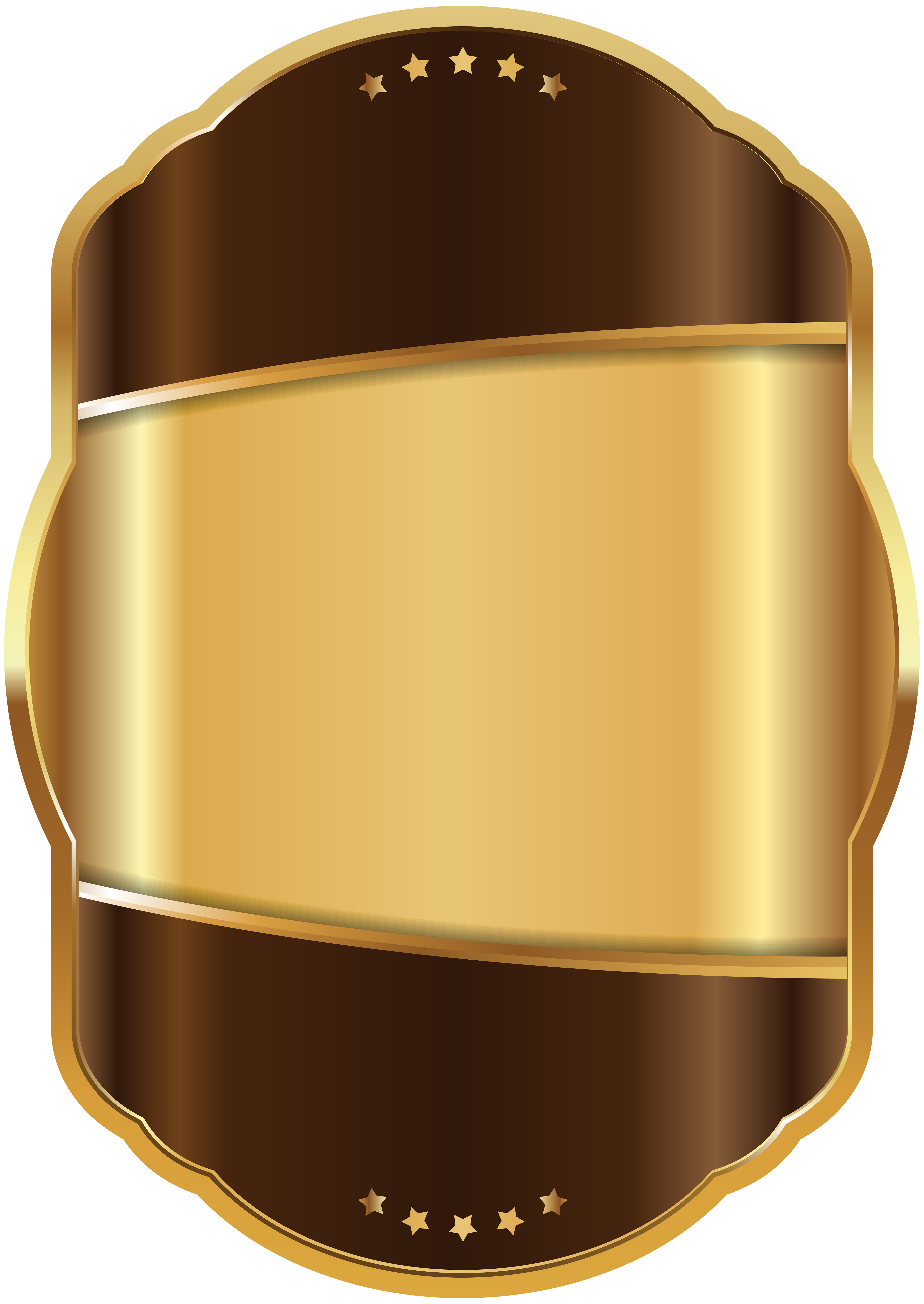 Label clipart brown. Template gold clip art