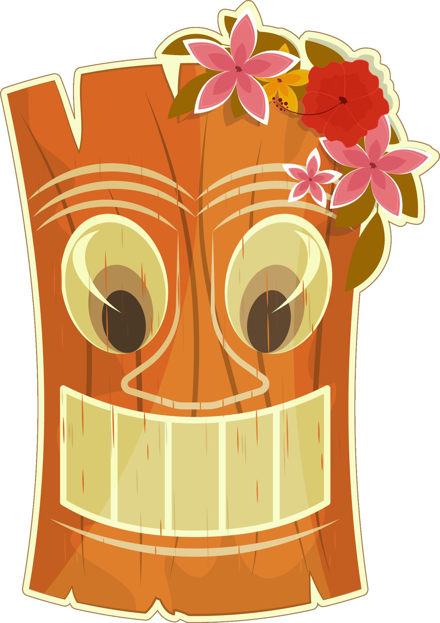 Hawaii Tiki bar Clip art