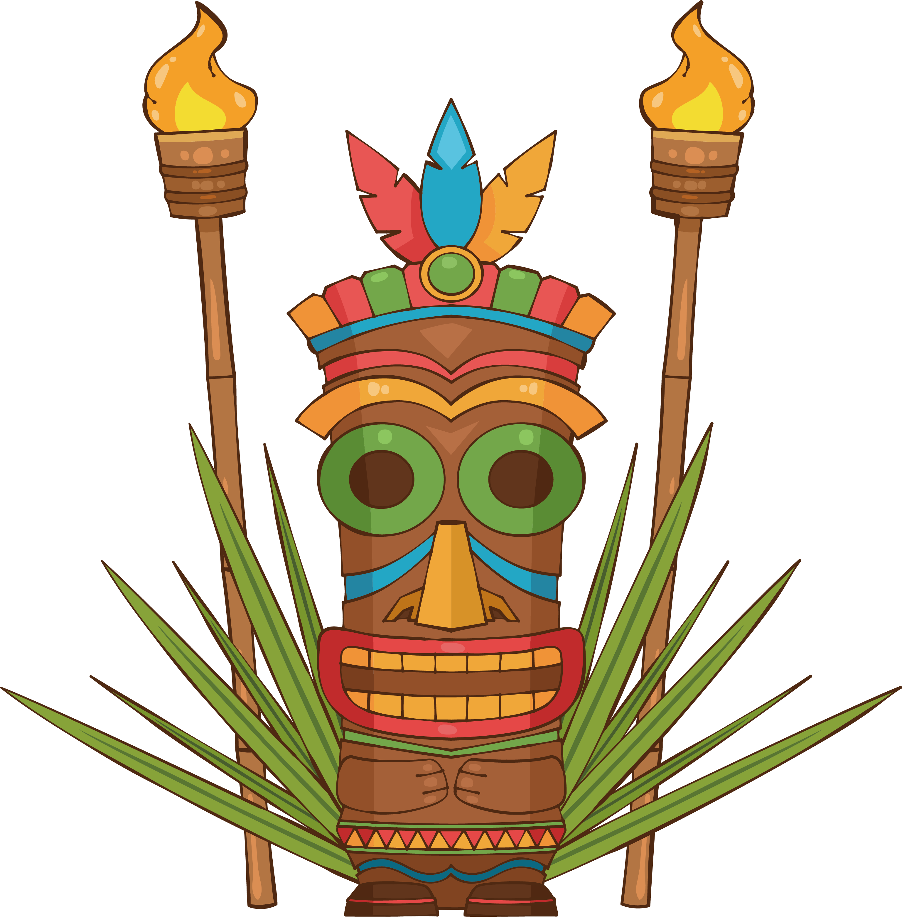 Hawaiian Clip Art Tiki