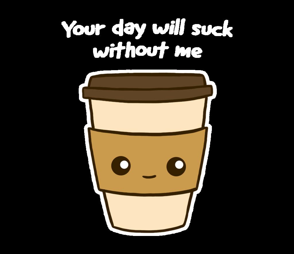 Coffee addict tee fury. Clipart cup tumbler