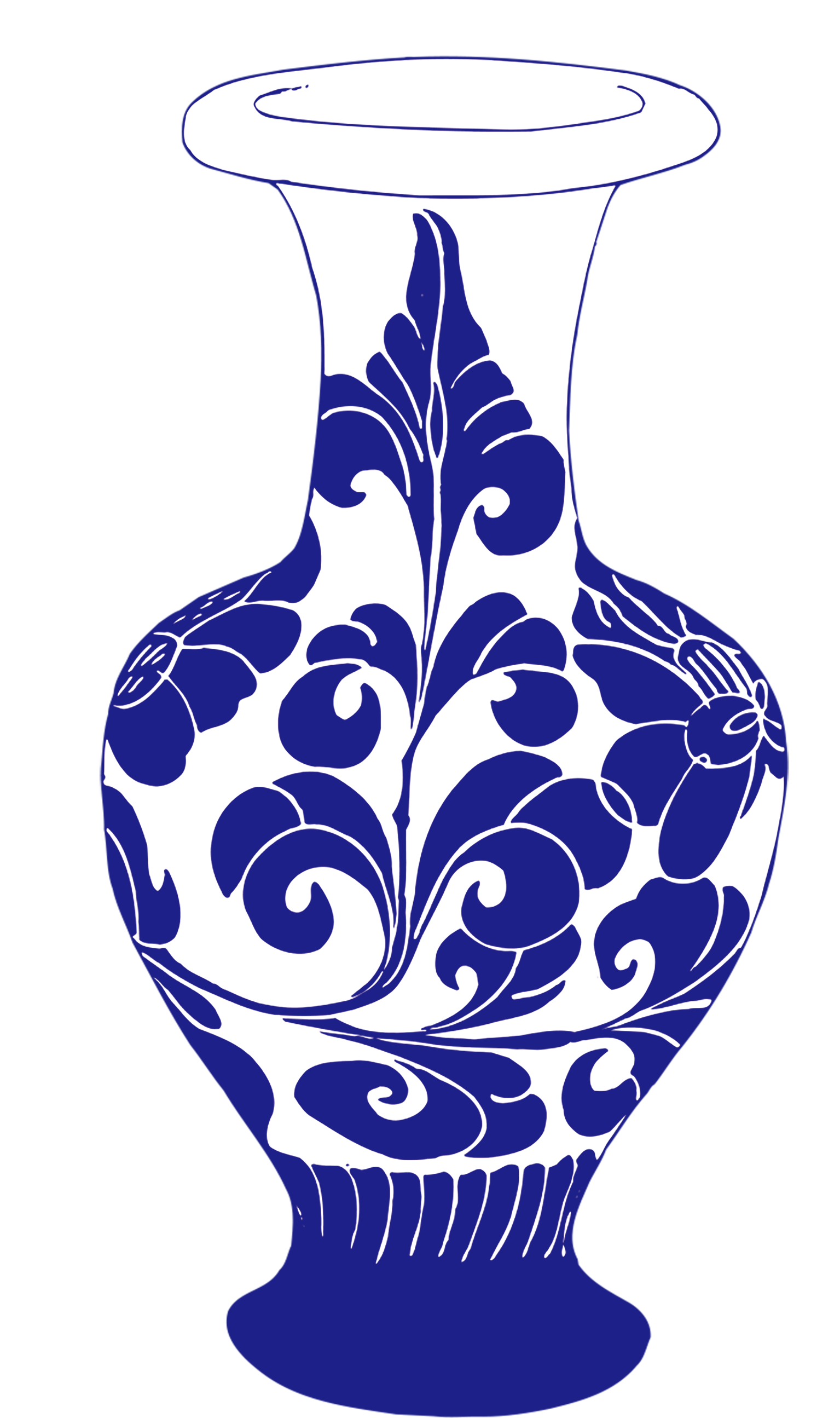 Egyptian clipart vase. Blue and white pottery