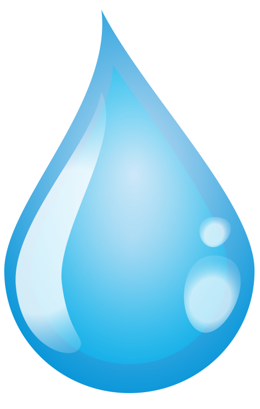 Clipart water transparent background. Single drop pencil and