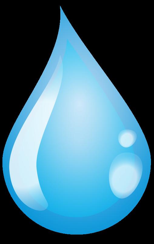 Water single drop pencil. Color clipart rain