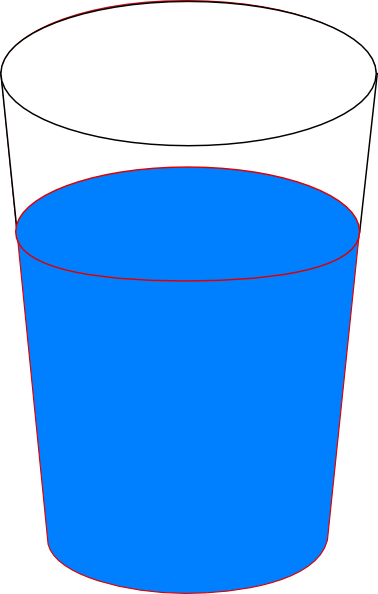 Clipart water blue. Cup of clip art