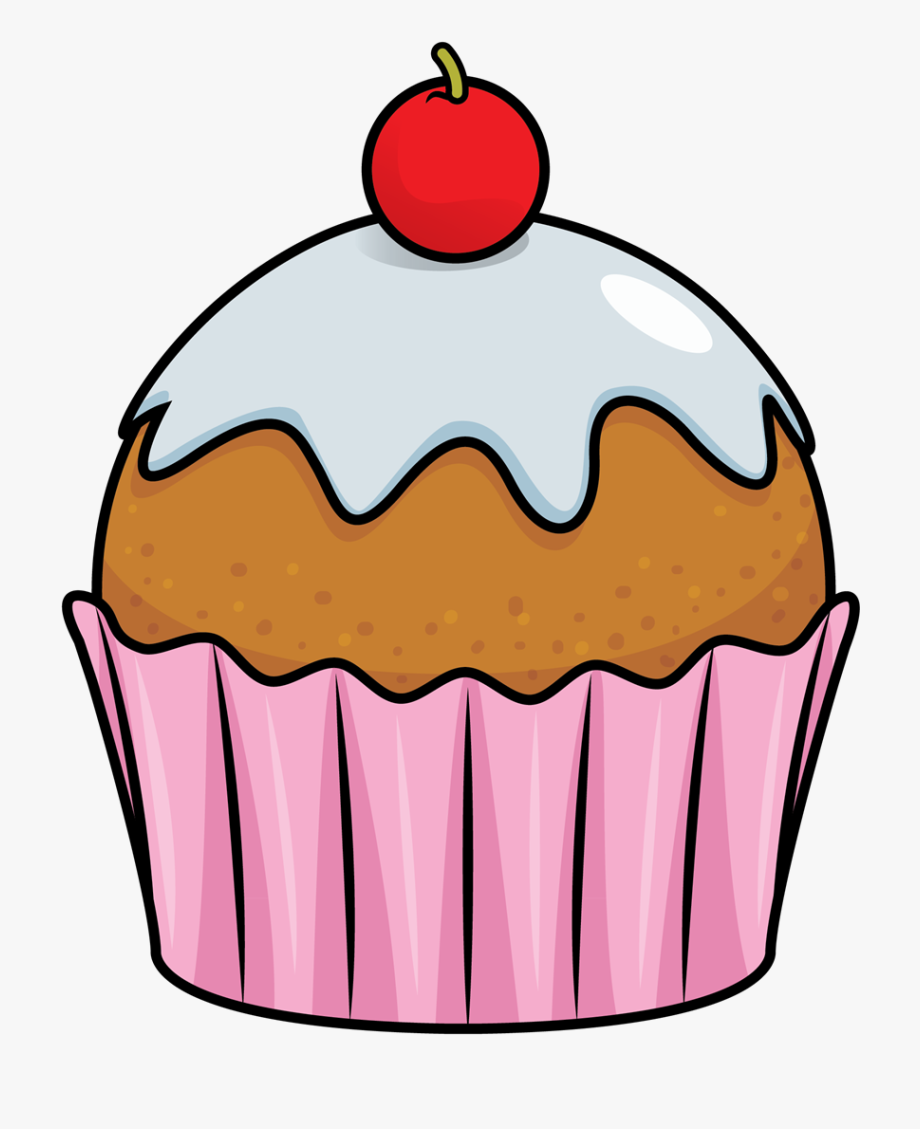 Free to use public. A clipart cupcake