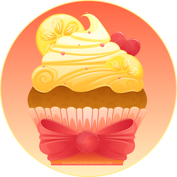 By shiropanda on deviantart. Lemons clipart lemon cupcake