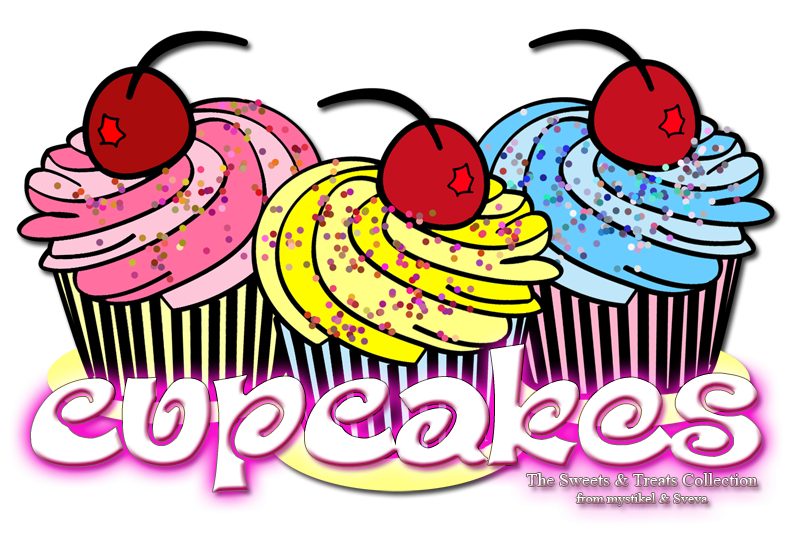 Holiday clipart bake sale. Sweets treats collection cupcakes