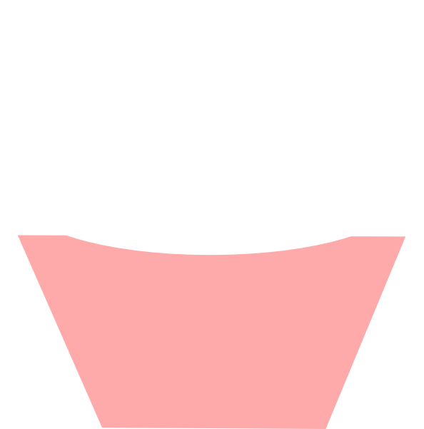 White clipart cupcake. Clip art at clker