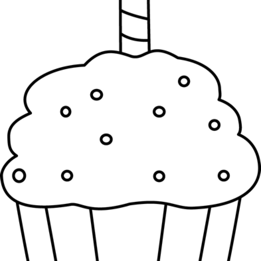 Clipart cupcake black and white. Money hatenylo com birthday