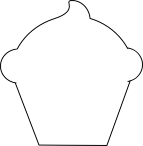 collection of outline. Clipart cupcake black and white