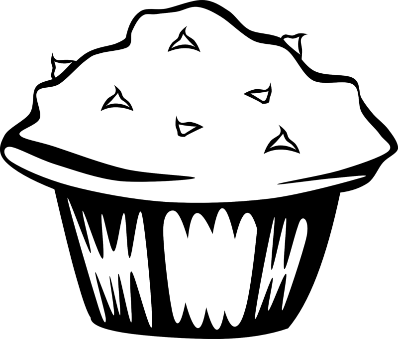 Clipart cupcake black and white. Hubpicture pin