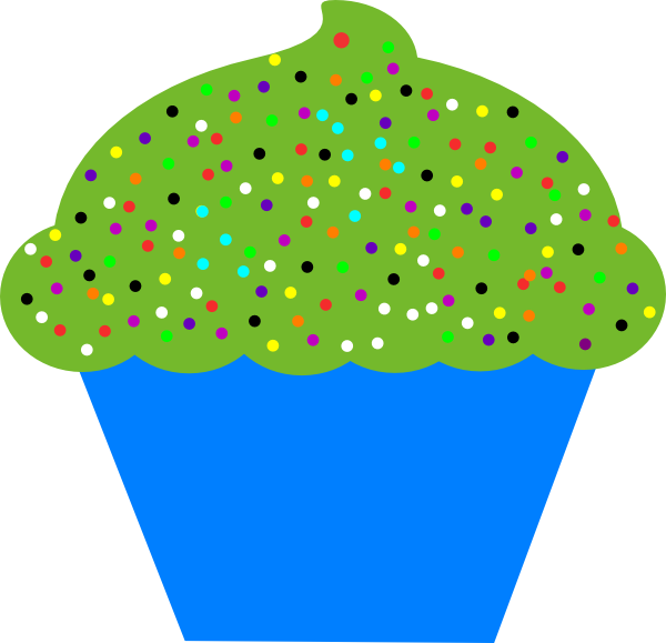 Head clipart holstein. Cupcake blue clip art