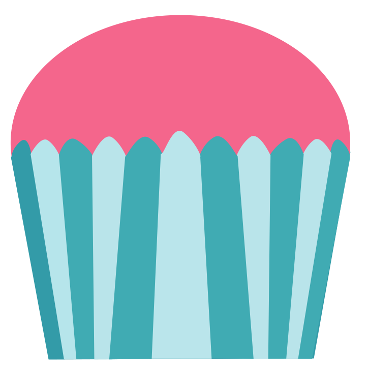Party clipart part. Cupcake pink and turquoise