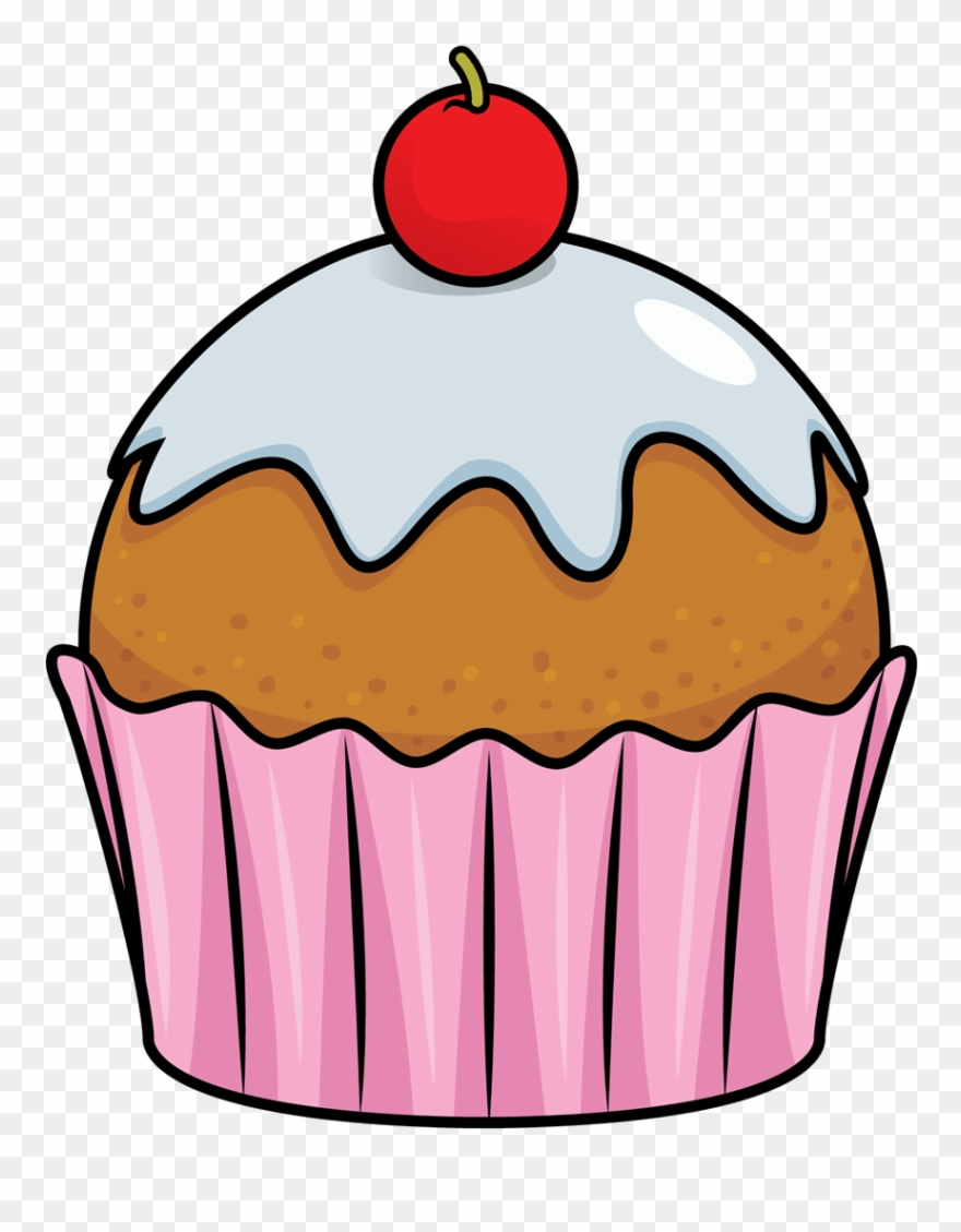 Cup cake image clip. Muffin clipart small cupcake