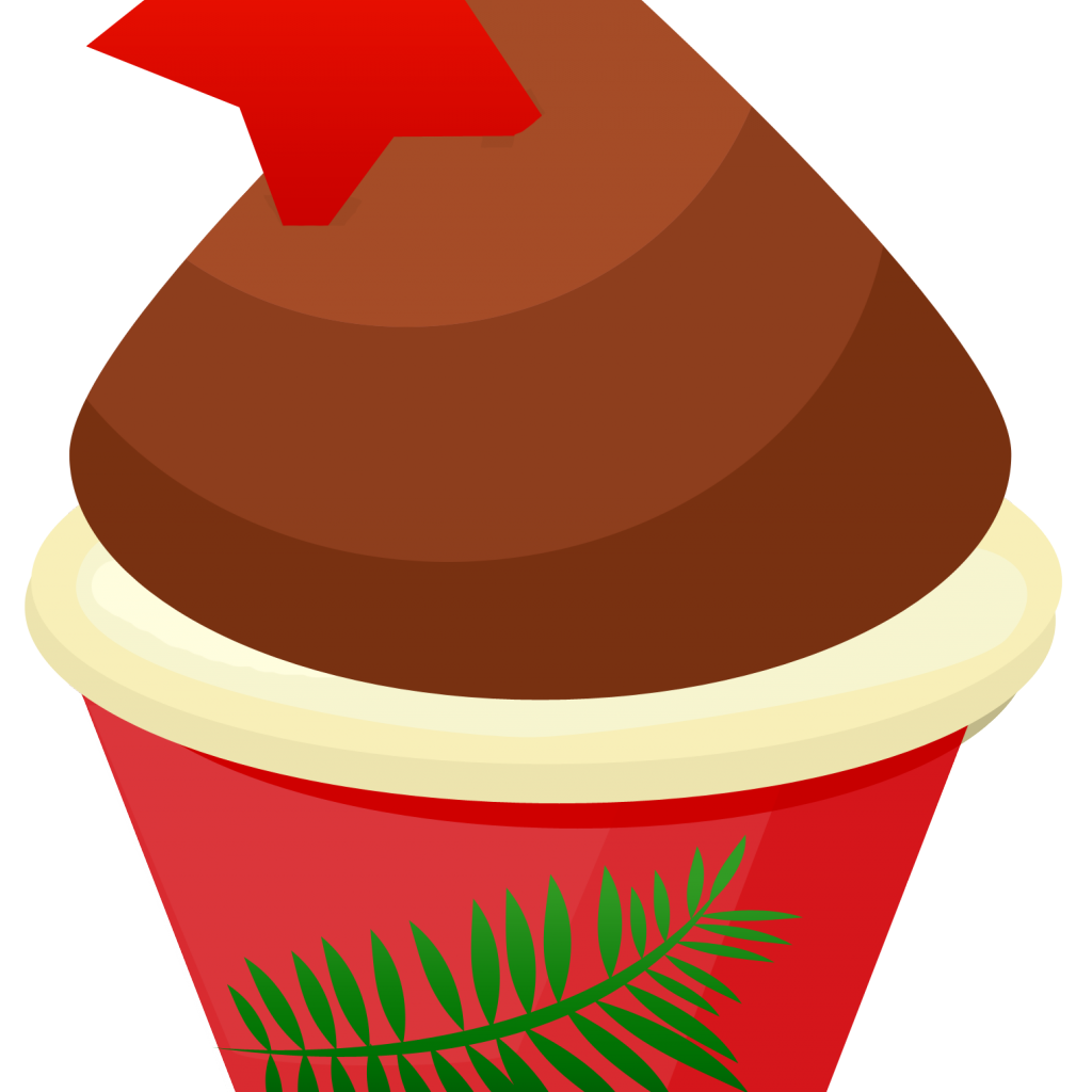 Free cupcake x carwad. Cupcakes clipart christmas
