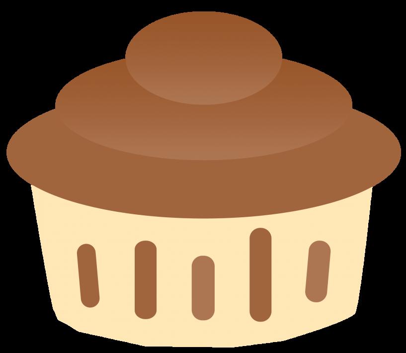 Vanilla and chocolate jokingart. Clipart cupcake choclate