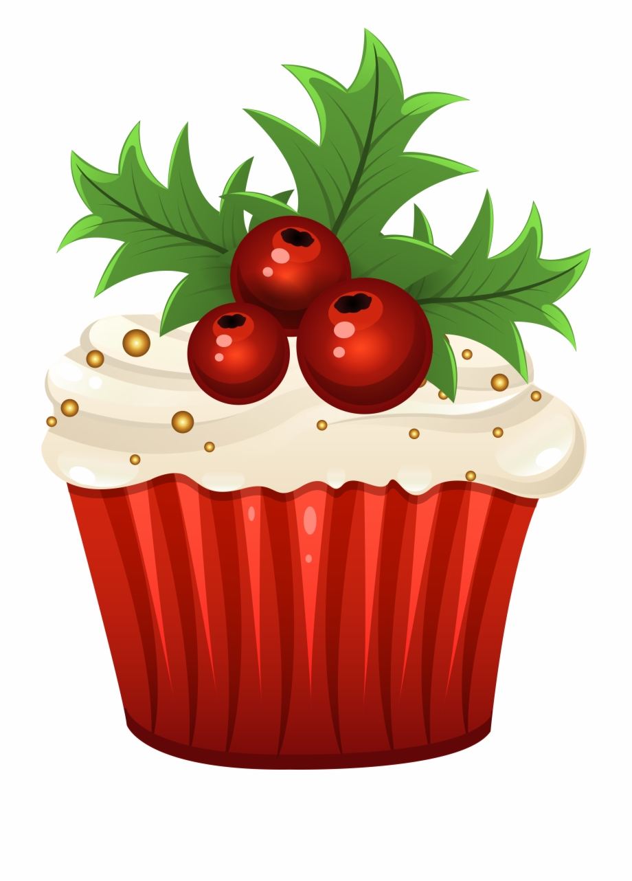 Muffin png clip art. Cupcakes clipart christmas