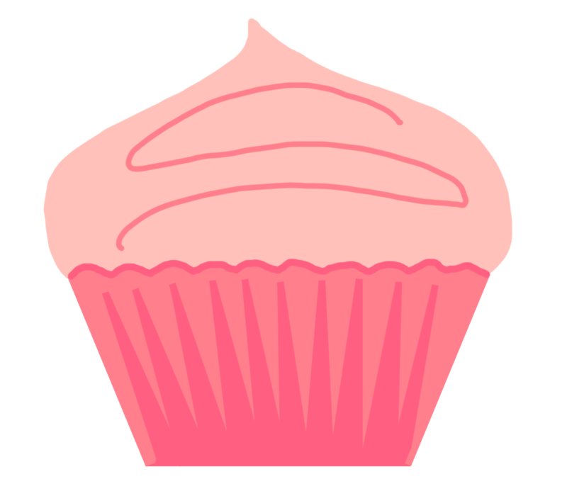 Free cup cake images. Clipart rose cupcake