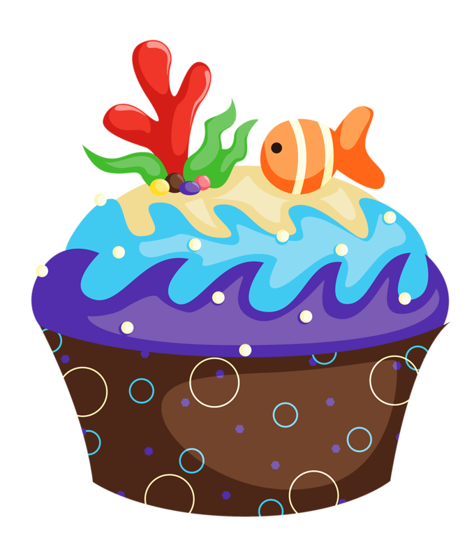 Cupcake clipart collage.  png album
