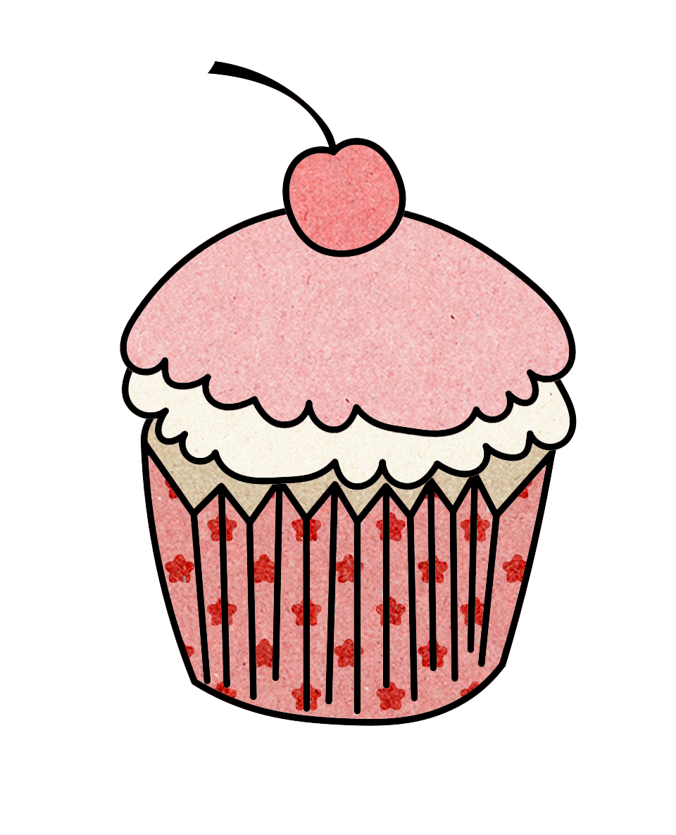 Pin by elodie saphoret. Cupcake clipart collage