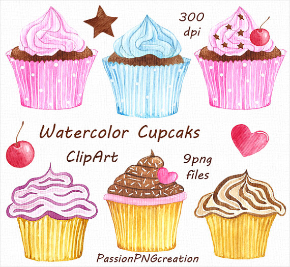 Clipart cupcake collage. Pin by etsy on
