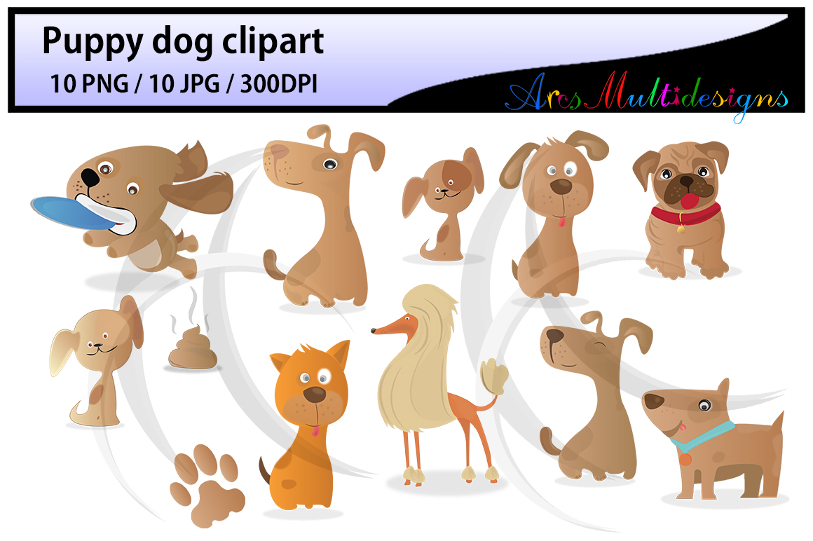 Clipart cupcake dog. Puppy digital clip art