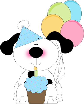 Clipart cupcake dog. Cute birthday with a