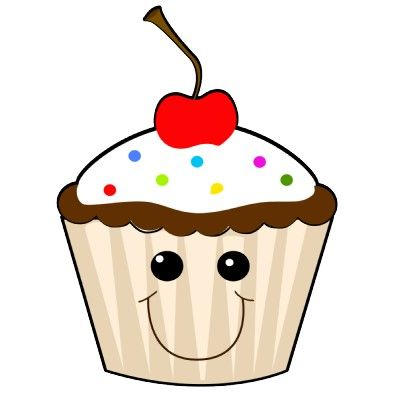 Cute with google search. Cupcake clipart faces