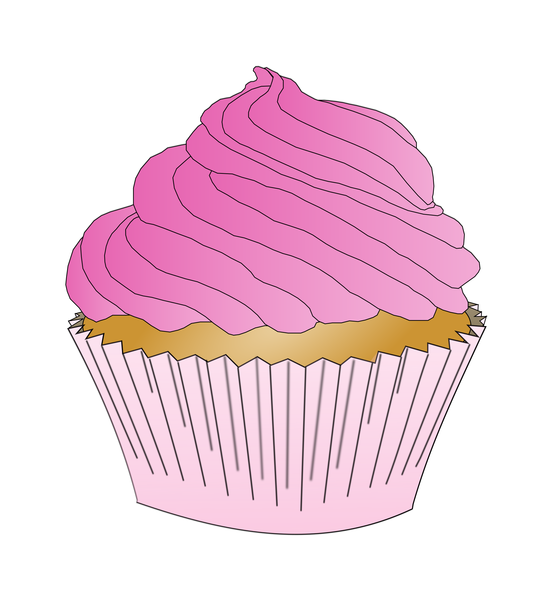 Swimsuit clipart floaty. Pink cupcake big image