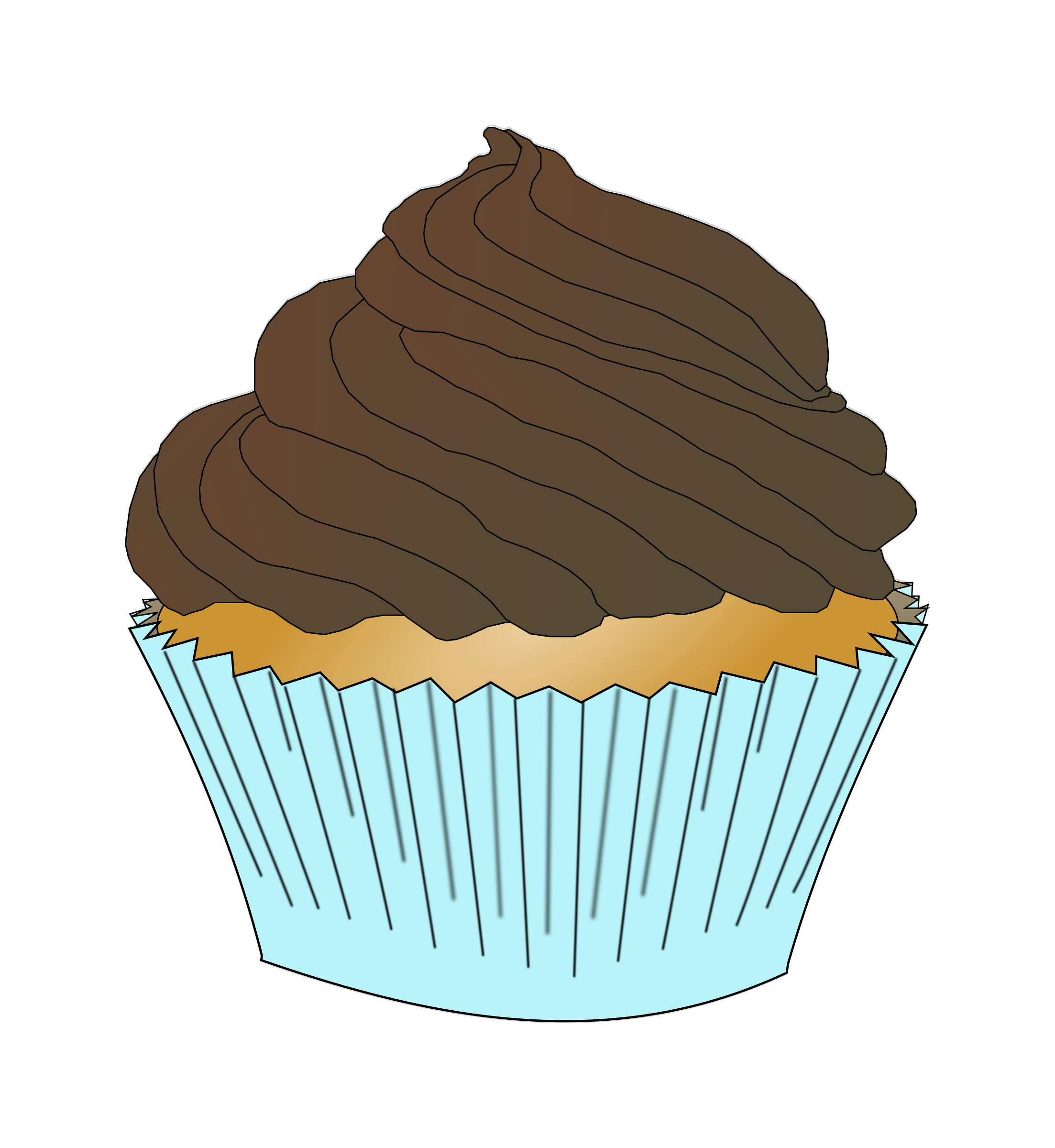 Desserts clipart vanilla cupcake. Chocolate frosting big image