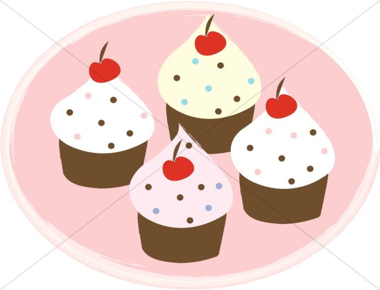 Cupcakes church food . Cupcake clipart four