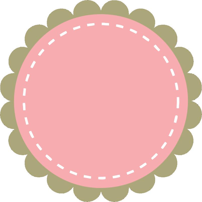 Clipart cupcake frame. Frames scalloped gr tis