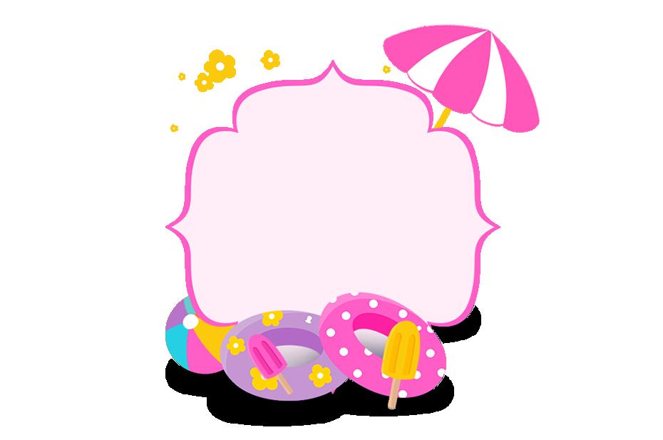 Clipart cupcake frame. Pool party menina pinterest