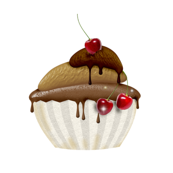 Fruit clipart cupcake. Gateaux tube meyve ve