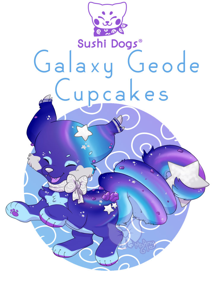 Sold geode by kandy. Galaxy clipart cupcake
