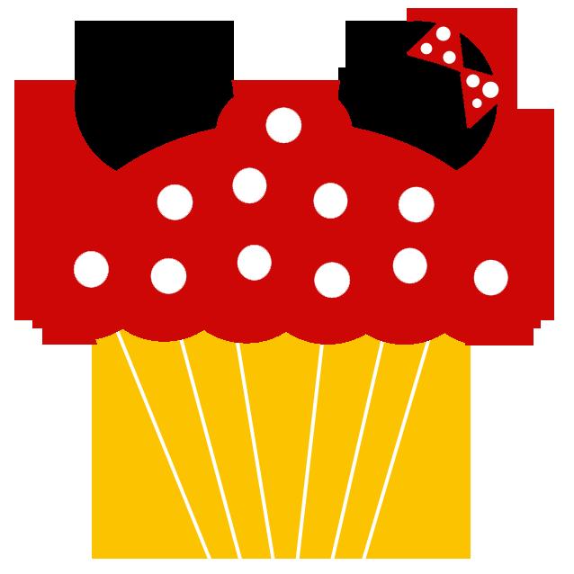Disney inspired scrapbooking element. Cupcake clipart minnie