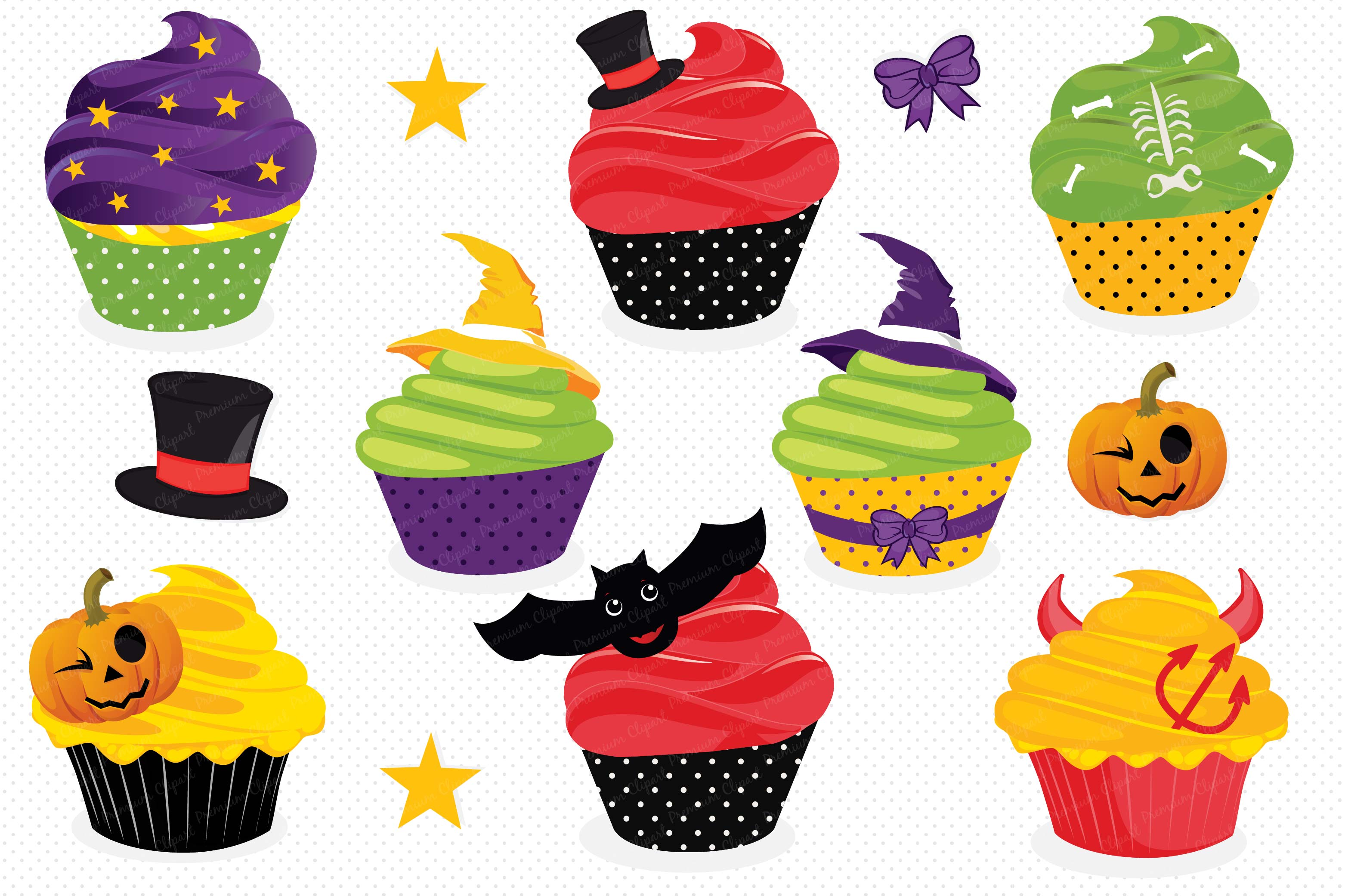 Cupcake haloween graphics . Clipart halloween cup cake