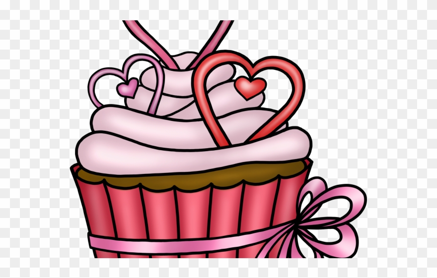 Sale cake png transparent. Clipart cupcake heart