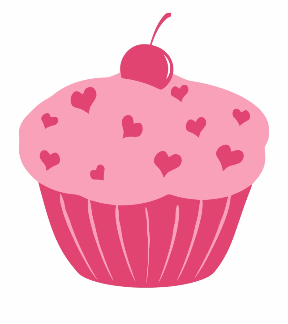 Cupcake clipart heart. Png pink
