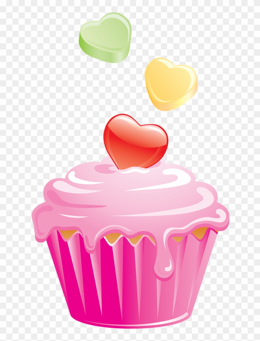 cupcakes hd png. Cupcake clipart heart