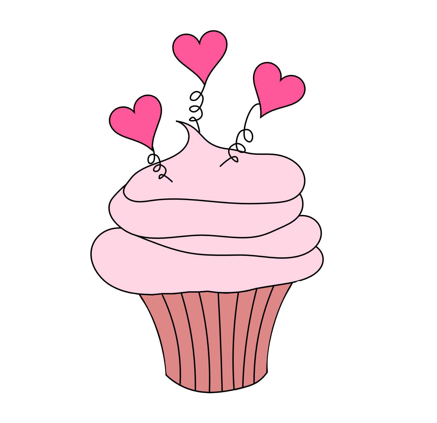 Clipart cupcake heart. Crafts to make and