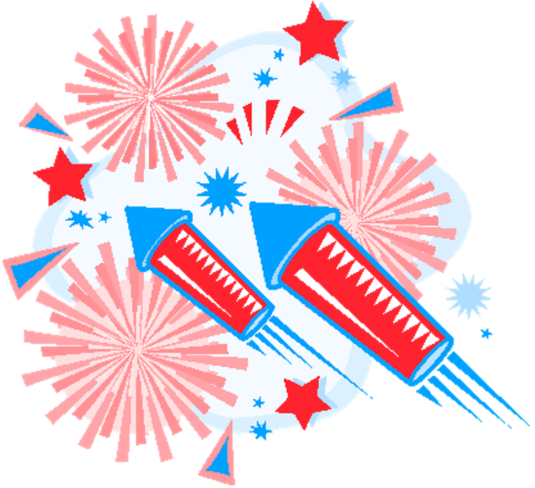 Precious th wishing pic. Clipart fireworks 4th july