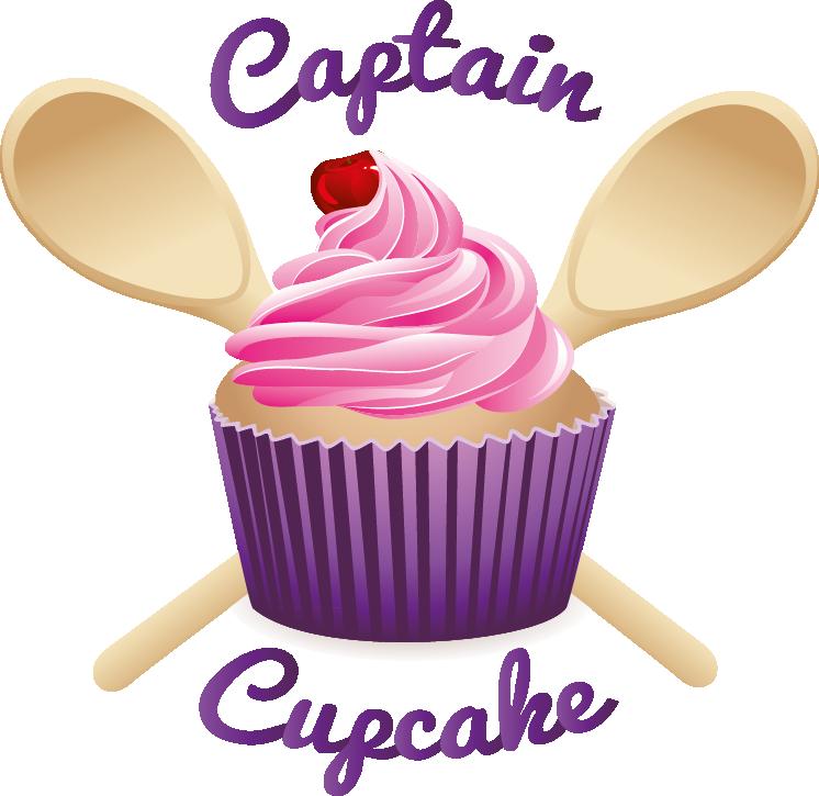 Clipart cupcake logo. Novelty cakes captain