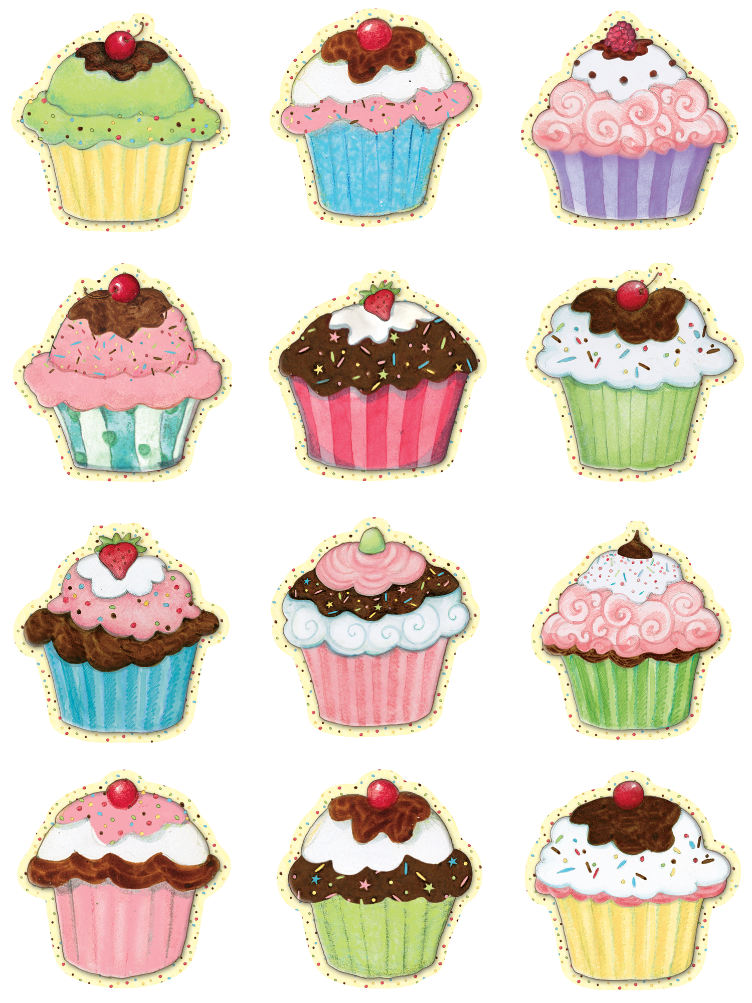 Accents from susan winget. Cupcakes clipart mini cupcake