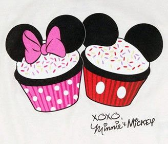 Mickey and cupcakes girly. Cupcake clipart minnie